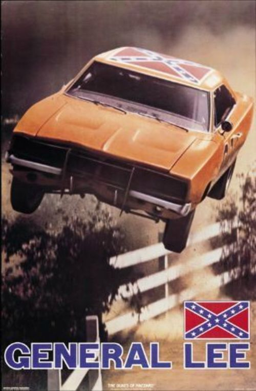 Vintage sealed/rolled Dukes of Hazzard General Lee Poster~1981 #Unbranded