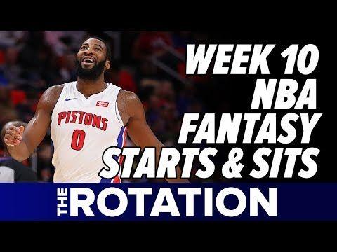 2017-18 Fantasy Basketball Week 10 Starts/Sits, Injuries, and 2-Game Slate Analysis | The Rotation