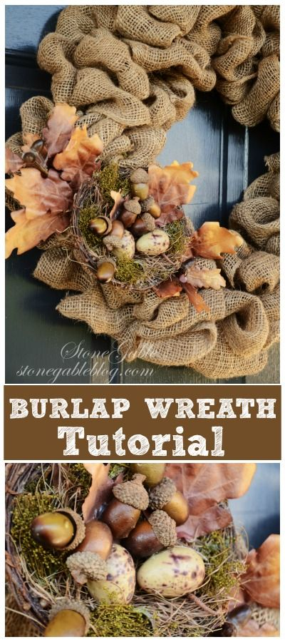 Burlap Wreath Tutorial...the easiest wreath ever. It can be used all year and redecorated for every season and holiday.