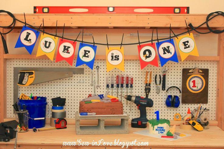 Sew In Love: Luke's Handyman Birthday Party!