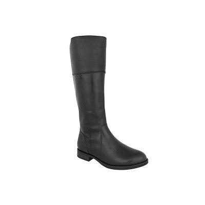 TAMARIS 1-25530-27 - Γυναικείες Μπότες Δερμάτινες ιππασίας σε μαύρο χρώμα