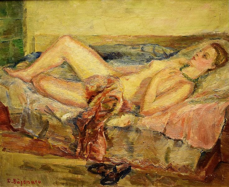 Băjenaru Dan (1900-1988) - Nud pe canapea / Nude on the sofa