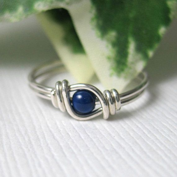 Pinky Ring winzige Größe Ring für kleine Finger Knuckle Ring Draht gewickelt Sterlingsilber Sweet Pea Fingerling