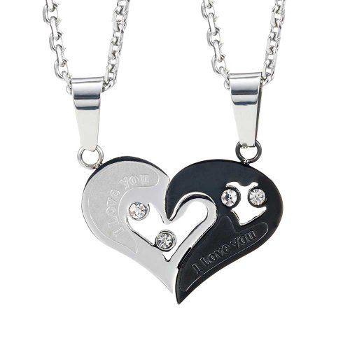 """Pour elle et lui ensemble cadeau collier et pendentif 2 pcs pour les amoureux de la Saint-Valentin, chaîne 19"""" et 21"""" C'est le cadeau parfait pour laisser savoir  quelqu'un que vous tenez  lui et lui montrez votre amour - directement de votre cœur.  Read more http://cosmeticcastle.net/jewelery/pour-elle-et-lui-ensemble-cadeau-collier-et-pendentif-2-pcs-pour-les-amoureux-de-la-saint-valentin-chaine-19-et-21  Visit http://cosmeticcastle.net to read cosmetic reviews"""