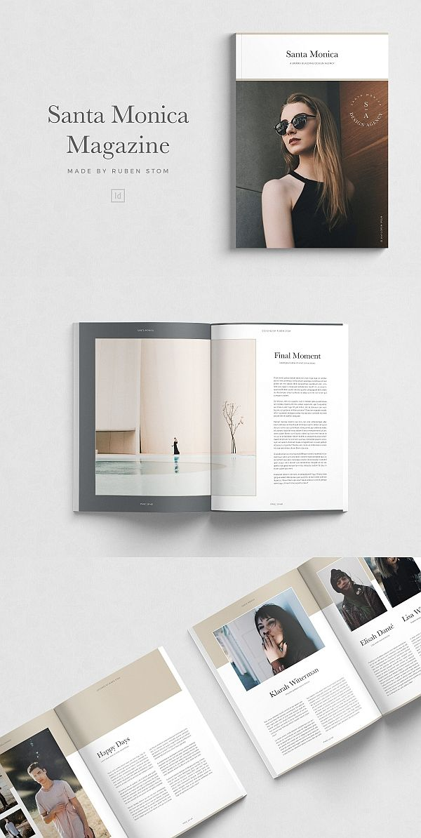 Santa Monica Magazine | Brochure Templates | Brochure