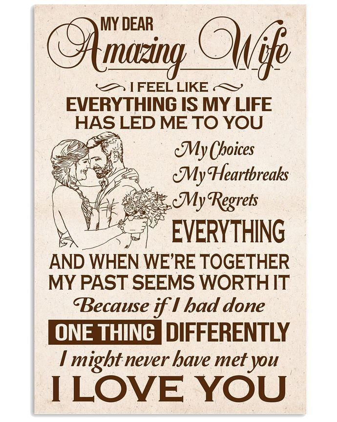 Great Gift For Wife Canvas Printed Love Your Husband By Heavenkp