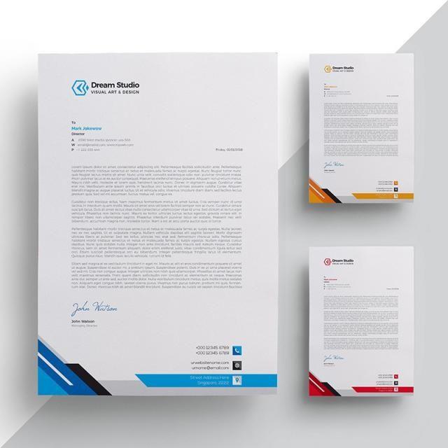 Letterhead Template 편지 디자인 편지 디자인