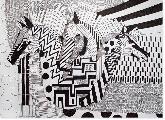 Zentangle Horses, Horses Doodles, Hors Doodles