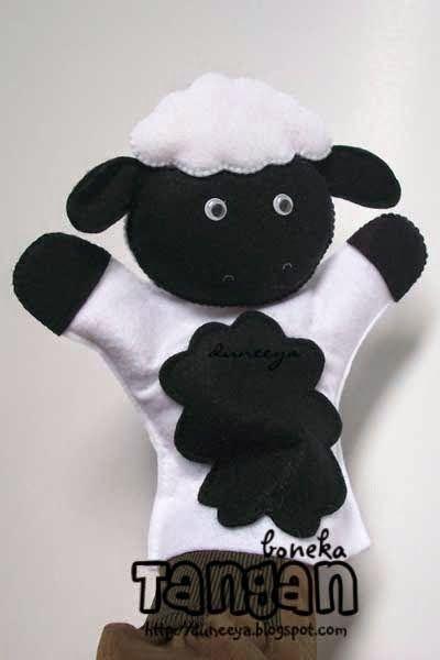 cRaft | SouVenir | educatiVe toys: Boneka Tangan Biri-biri & Serigala -by request