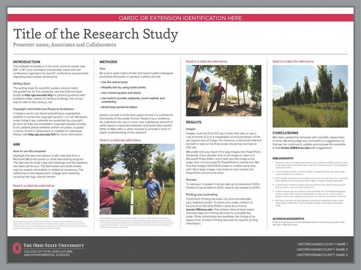 Research Poster Templates  The Cfaes Brand  Work Powerpoint