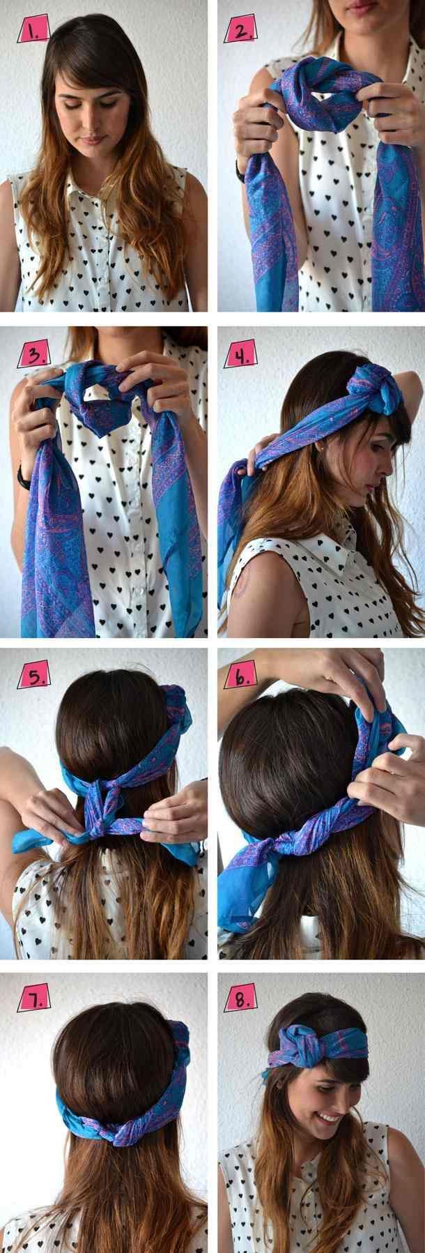 Tolle Idee mit dem Tuch und der Frisur!