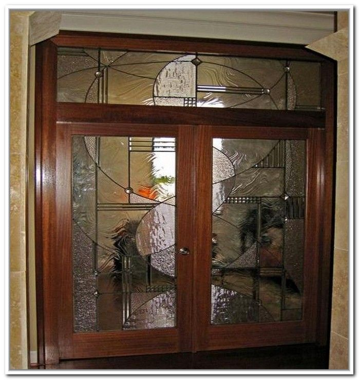 7 best framed stained glass images on pinterest stained - Decorative interior doors with glass ...