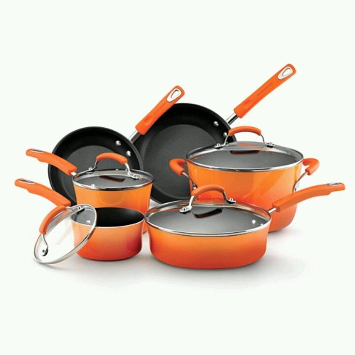Rachel Ray cookware... Orange | Wish list!!! | Pinterest