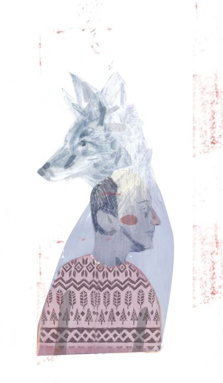 http://lostcontrolcollective.tumblr.com illustration Coyote Person He got left behind amongst the layers of a finished project and I felt kind of sorry for him.
