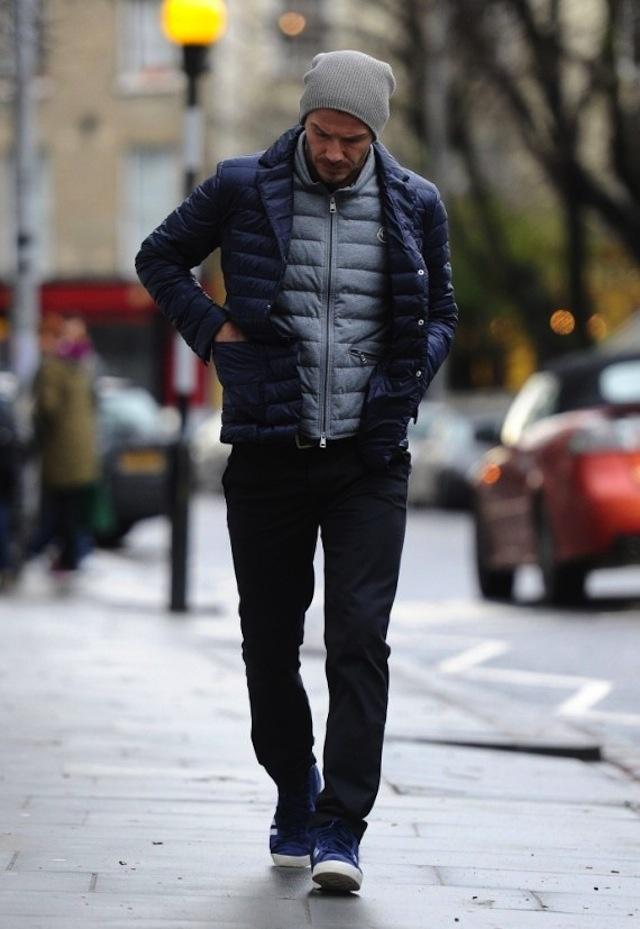 David Beckham wearing adidas Originals Basket Profi