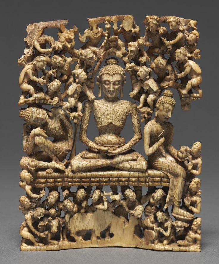 Fasting Buddha; India, Kashmir, 8th c.; Ivory