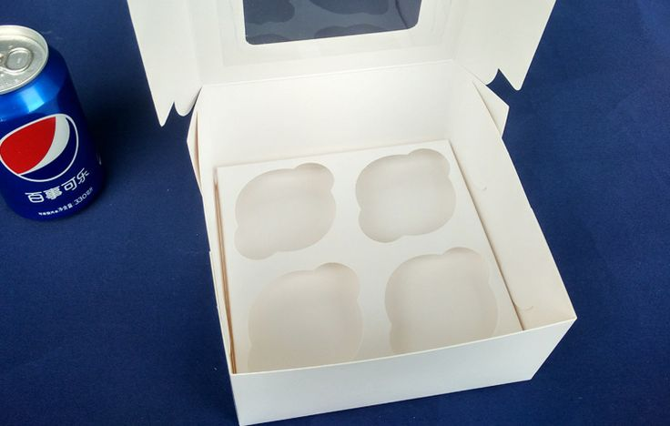 Find More Packaging Boxes Information about 100pcs 16*16*7.5cm 4 grid Packaging White cardboard Paper Muffin window Box For Candy\Cake\Dessert \party Packing boxes,High Quality box velvet,China box chart Suppliers, Cheap paper noodle box from Fashion MY life on Aliexpress.com
