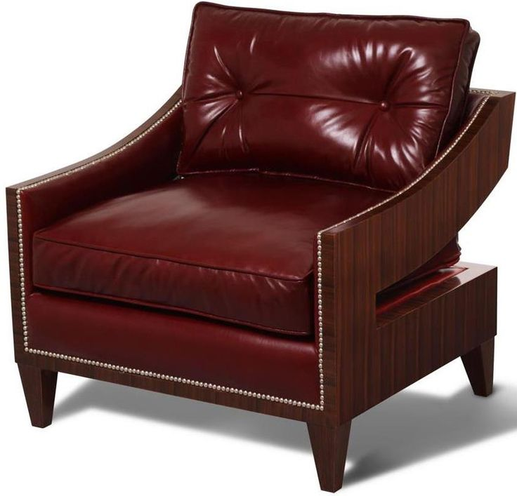 Lounge Chair Scarborough House Contemporary Burgundy Red ...