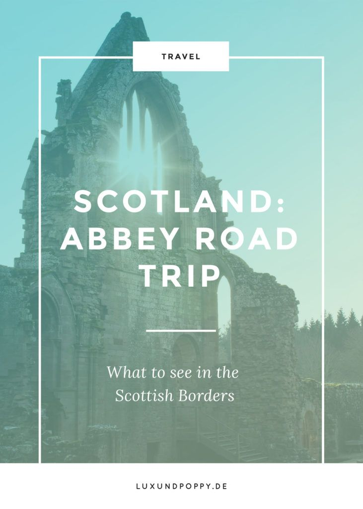 Scotland: Border Abbeys Way Travel Guide. Visit beautiful abbeys and see a breathtaking landscape. Hop over to my blog for your Scottish Borders Travel Guide!