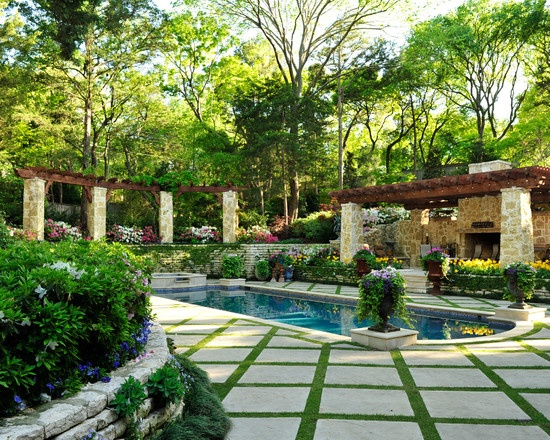 Patio Tile And Grass Checker Pattern Design, Pictures, Remodel, Decor and  Ideas - page 8   outdoor spaces   Pinterest   Beautiful, Patio tiles and  Pools - Patio Tile And Grass Checker Pattern Design, Pictures, Remodel