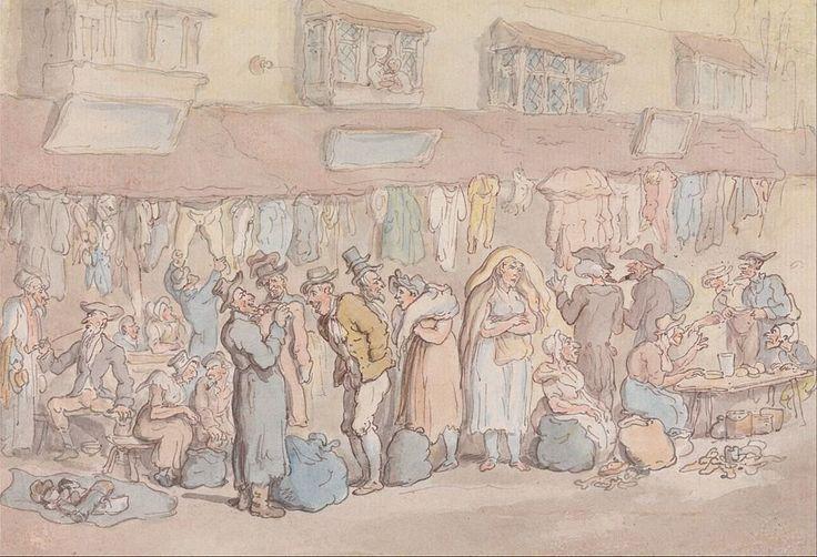 Jane Johnson, a 'disorderly' woman of Rag Fair (Image is Rag Fair of Rosemary Lane by Thomas Rowlandson)