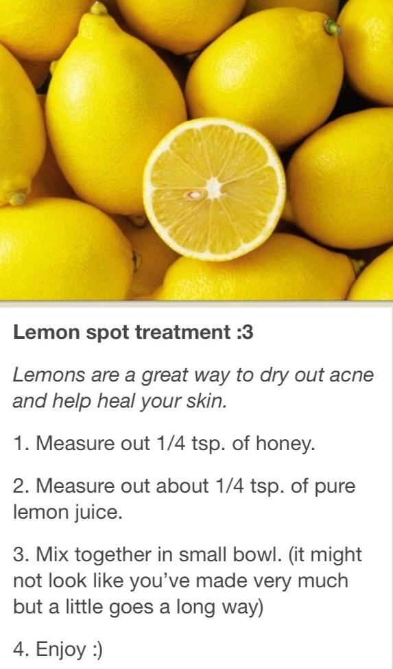 Lemon spot treatment - lighten dark marks on skin