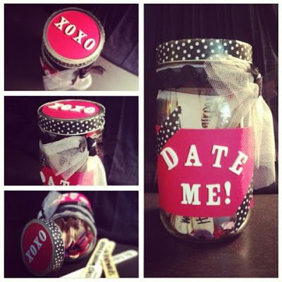 DIY date jar; I'm thinking Instead put extra cash/change/few dollars each week in it and at the end of the month spend it on a nice date together, no matter how much you end up with.