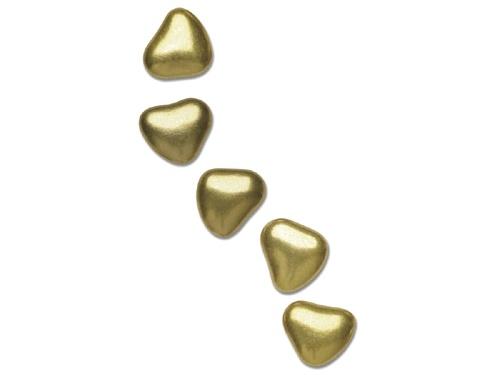 Mini gold heart chocolates, 1 cm, 1 kg, 259,-