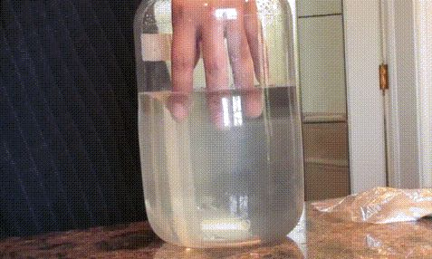 Hand gets trapped in hot ice