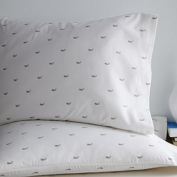 Whale Sheet Set - Platinum #westelm Whale Sheets. Where have you been all my life. #whale sheets