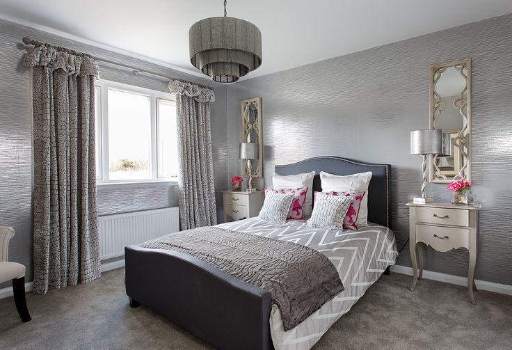 Bursts of colour add a design edge to one of the bedrooms in the showhome at Walker Group's Hopefield Park in Bonnyrigg