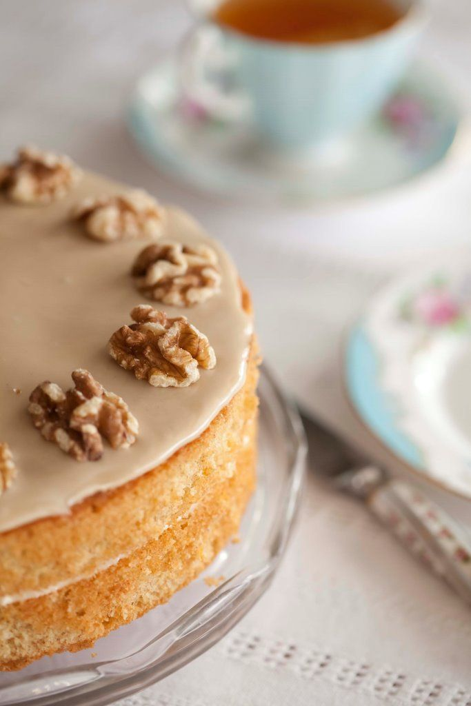 This traditional cake never fails to please; its bitter-sweet flavours make it one of Pam's all-time favourites. She likes to use old-fashioned Camp coffee essence for the coffee bit, however, you can use instant coffee or very strong freshly brewed coffee instead.