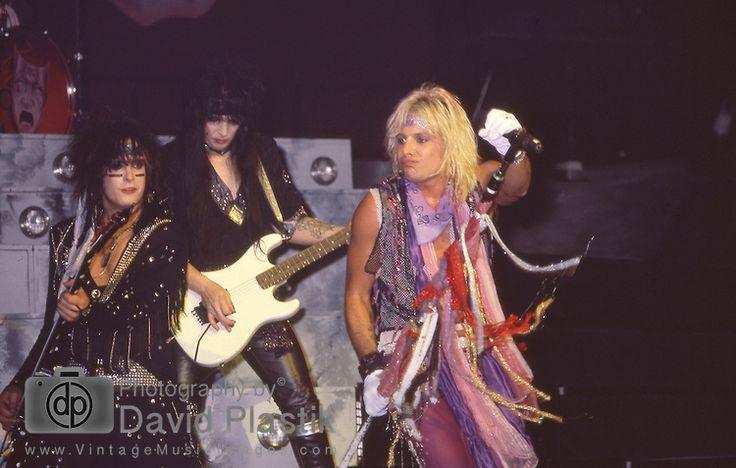 Nikki Sixx, Vince Neil & Mick Mars Motley Crue at Madison Square Garden Aug 1985.