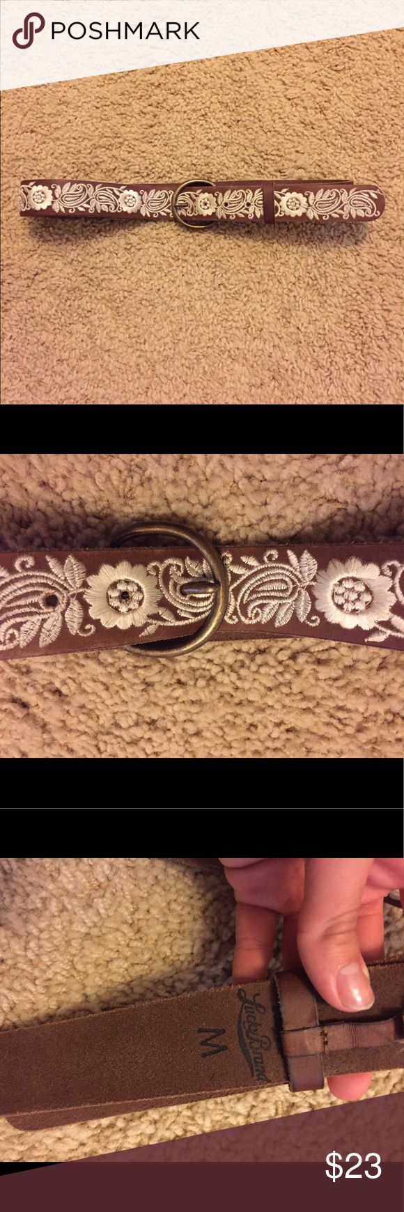Bobo Lucky Brand Belt Beautiful belt that was never worn, because it's always been too big for me! My loss is your gain :) Lucky Brand Accessories Belts