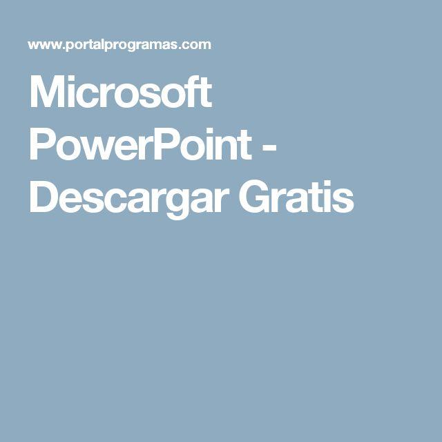 Microsoft PowerPoint - Descargar Gratis