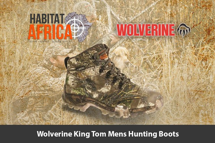 The Wolverine King Tom men's hunting boots feature a waterproof 900…