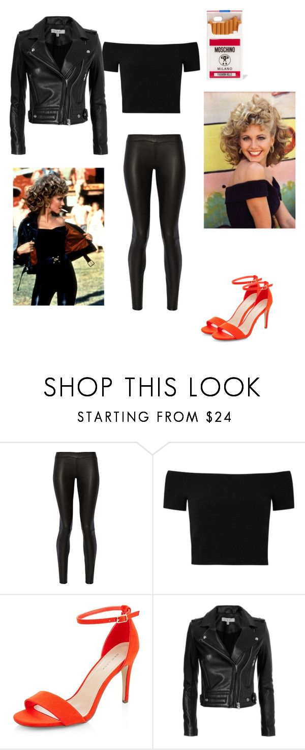 """Grease Sandy"" by seetherfan17 ❤ liked on Polyvore featuring The Row, Alice + Olivia, New Look, IRO and Moschino"