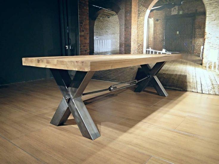 17 beste idee n over industri le tafel op pinterest pijp tafel industrieel meubilair en pijp - Tafel eetkamer industriele ...
