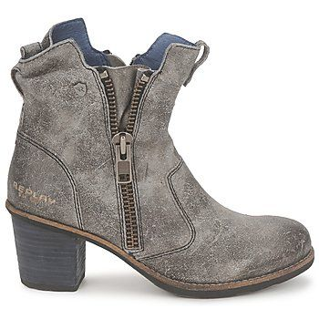 Heel sandals - Ankle boots Replay MISTY Grey - Shoes Women