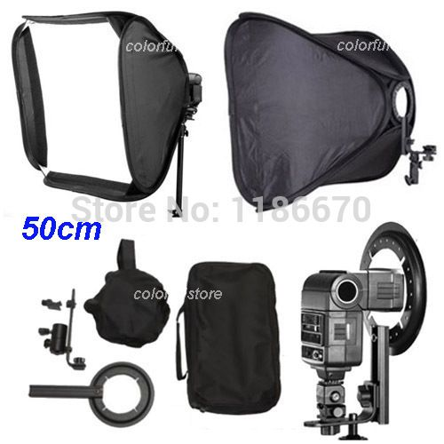 ">> Click to Buy << 50 x 50cm 20"" Soft Box Softbox for Canon 430EX 580EX Nikon SB600 YongNuo YN-460/460II/467II/468II/560II/560III Flash Speedlite #Affiliate"