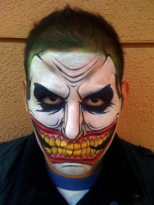 86 best face painting images on Pinterest Make up looks, Artistic - halloween face paint ideas scary
