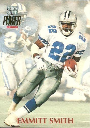 1992 Pro Set Power #22 Emmitt Smith Dallas Cowboys NFL Football Card #DallasCowboys