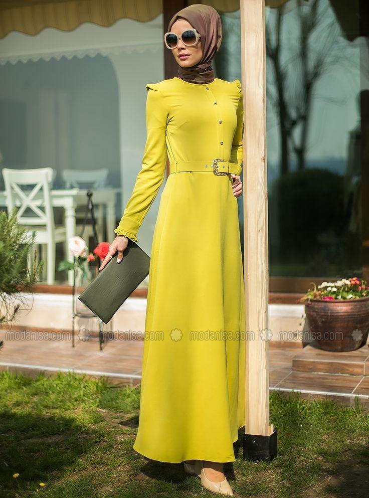 Belted Dress - Oil Green - Refka