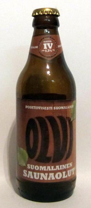 Suomalainen Saunaolut bottle by Olvi