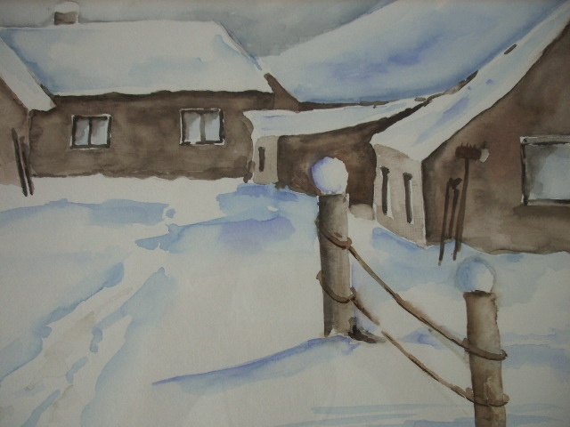 Aquarell ... Winter - © by Maria Földy