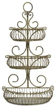 French Wire Shelf Wall Planter - Transitional - Tabletop - by ...