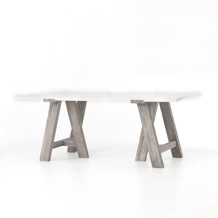 Paxton Dining Table in Grey White Wash