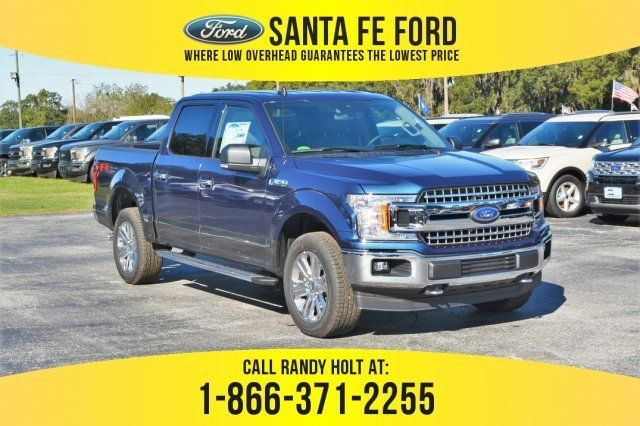 2019 Blue Jeans Metallic Ford F 150 Xlt 4x4 Regular Unleaded V 8 5 0 L 302 Engine 4 Door Ford F150 Ford F150 Xlt Ford