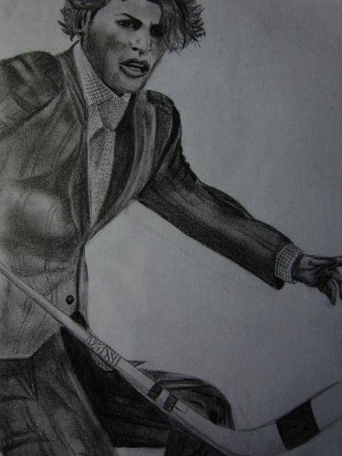 He Shoots- Pencil on paper, 8X11 '' © 2012 Shayla Tansey - www.etsy.com/shop/VividEarthArtwork