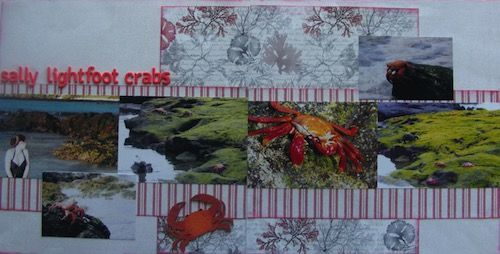 Crab double page created with FabScraps Beach Affair collection by Teena Hopkins for My Scrappin' Shop.